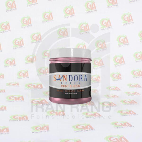رنگ تزئینی اکلیلی اکریلیک صورتی ساندورا - کد 125