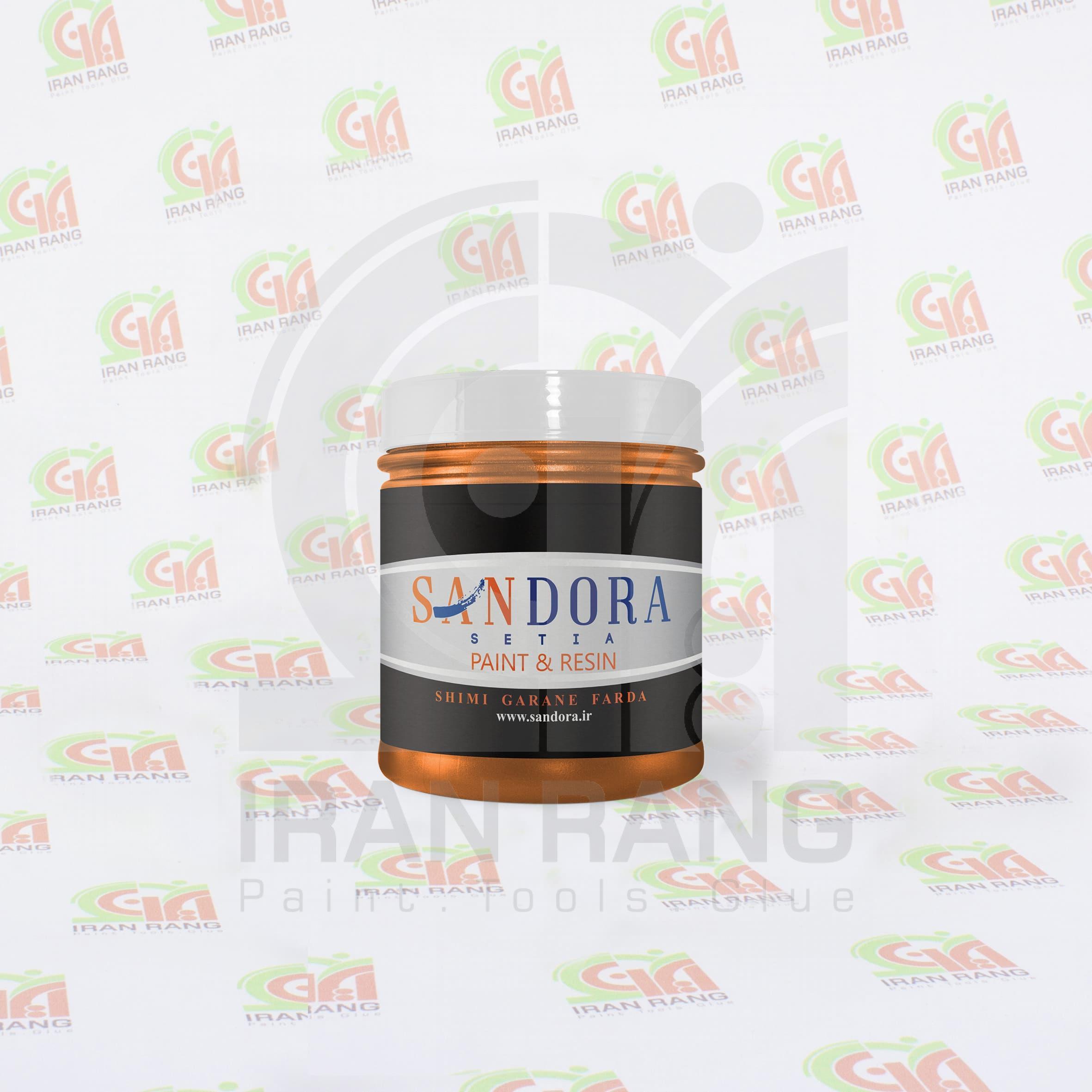 رنگ تزئینی اکلیلی اکریلیک نارنجی ساندورا - کد 127